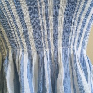 American Eagle Outfitters Tops - Cropped Blue and White Striped Tube Top